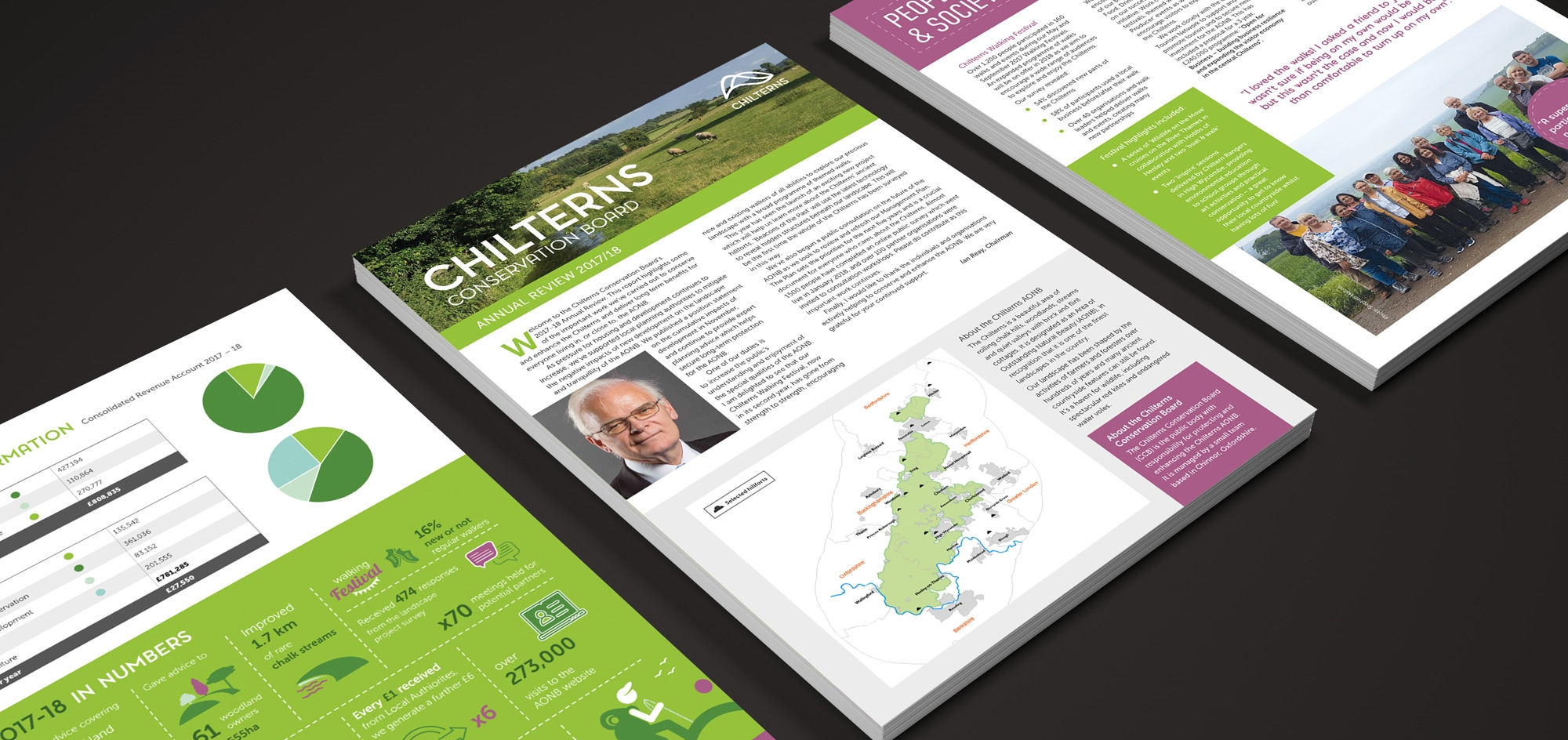 Chilterns conservation board flyer design