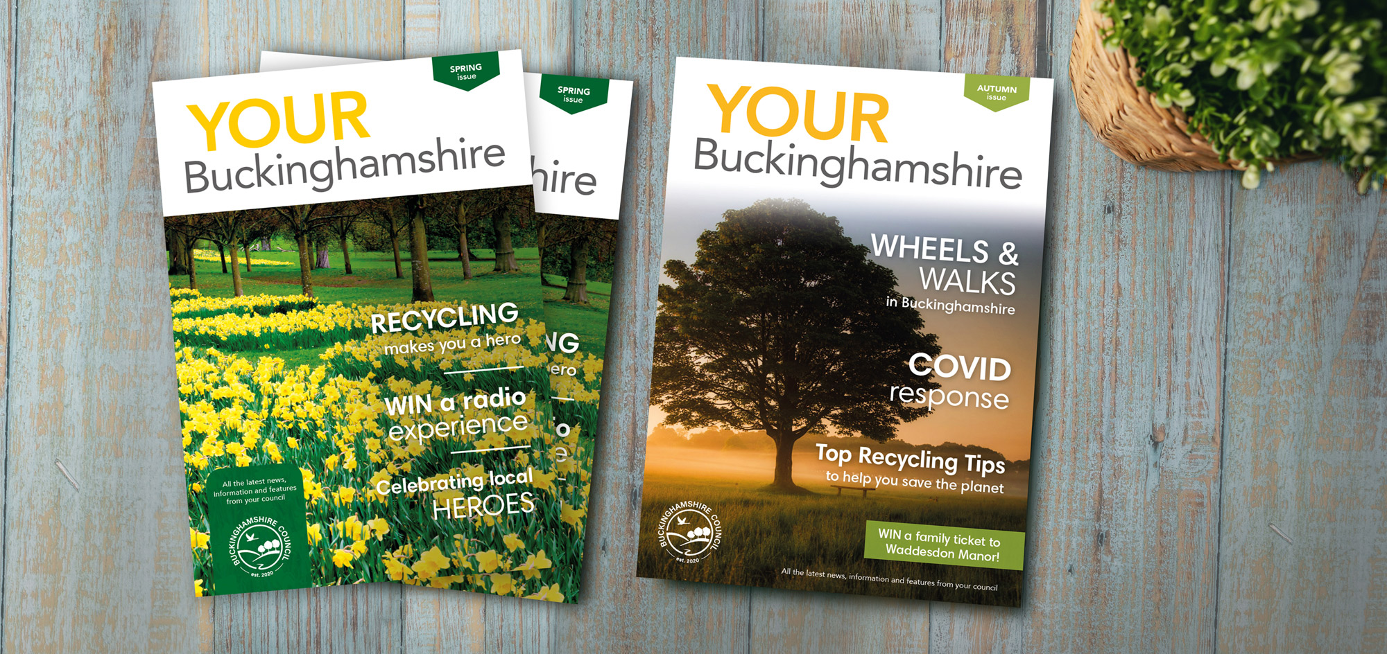magazine covers for bucks council